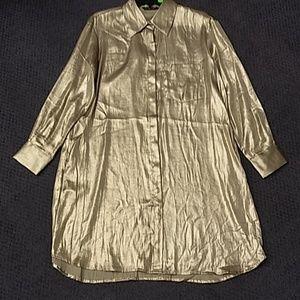 New ZARA BASIC Golden Shirt Dress XS to 2XL